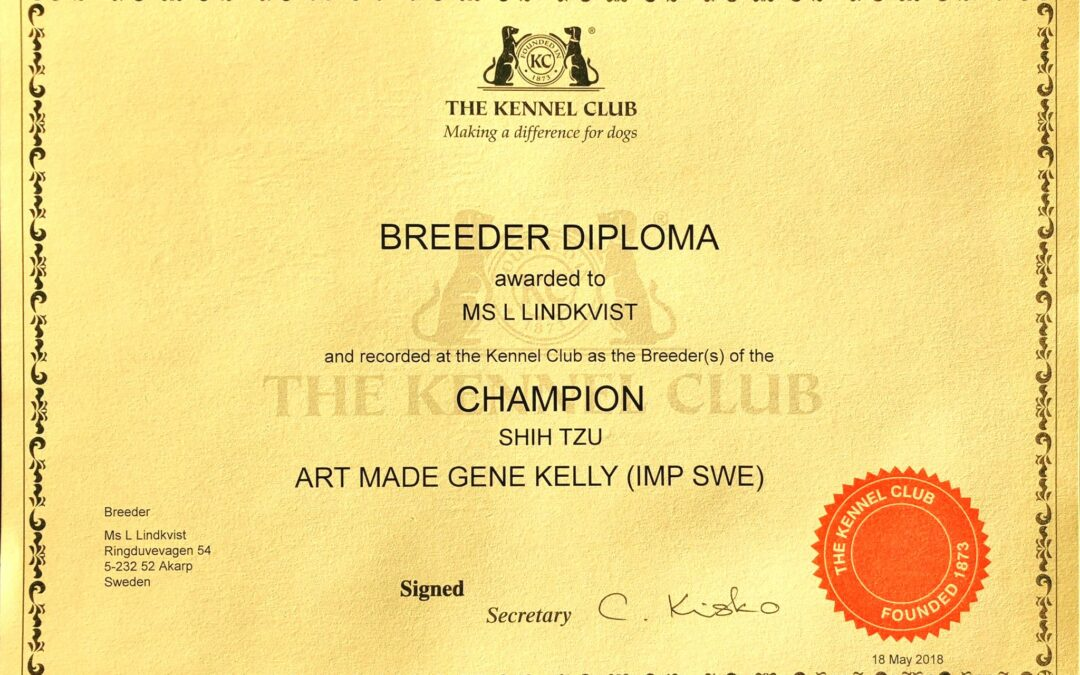 Breeder diploma GGCH